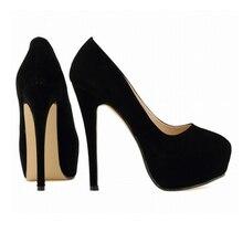 2017 Large size women shoes new style super high heels lady's fashion sexy Anti-fur velvet  platform shoes  w830