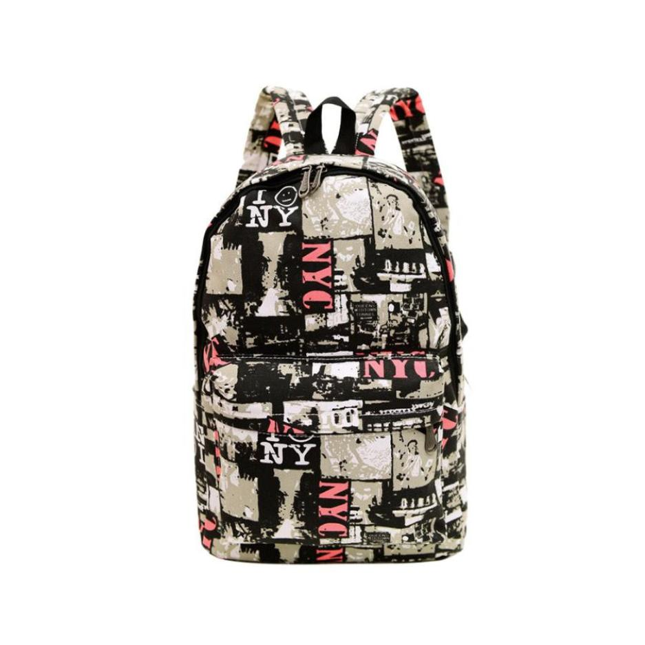 Printing School Backpacks Large Capacity Backpack Unisex Travel Rucksack Canvas Bags Backpack Pink Casual Daypack Stachel-12