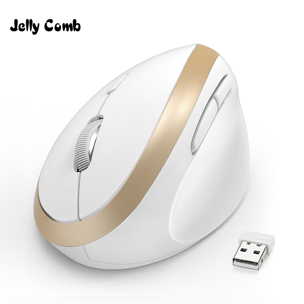 Jelly Comb Ergonomic Wireless Mouse For PC TV Laptop Ajustable DPI 2.4G Wireless Vertical Mouse Computer Office Optical Mice