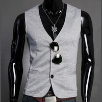 2016 new men's fashion suit vest slim business casual men knitted vest for classic M11