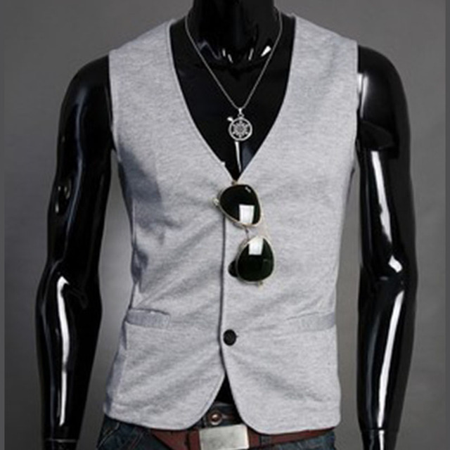 2016 new men's fashion suit vest slim business casual men knitted vest for classic M11