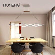 MUMENG LED Pendelleuchte Fernbedienung Moderne Welle Dimmbar küche Esszimmer Wohnzimmer Indoor LED Hause Beleuchtung