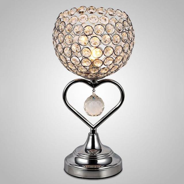 moderne led kristall tischlampen wohnzimmer schlafzimmer nachttischlampen kristall dekorative dimmbare - Nachttischlampen