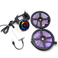 10 M SMD 5050 RGB LED Şerit 7 Keys Kablosuz RF dokunmatik Kontrolör Ile With12V 3A Set Güç Kaynağı Adaptörü