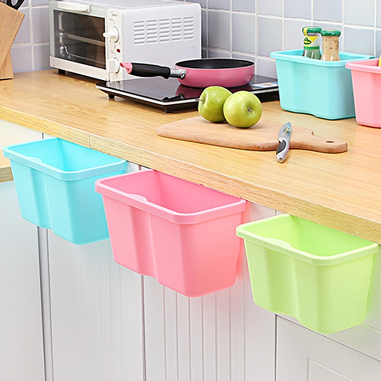 Creative Simplicity Can Be Attached To The Kitchen Trash Plastic Wall Hanging Tube Multi-purpose Simple Home Daily Basket