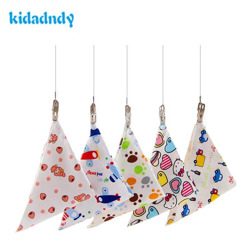 KiDaDndy 3 Pair/ Lot Ecological Cotton Baby Bandana Bibs Bandana Baberosbandana Bibs For Babies Baby Bibs Waterproof WMC1636