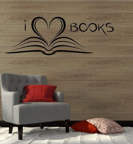 New Fashion Book Library Reading Wall Sticker Home Decor Vinyl Decals I  Love Books In Wall Stickers From Home U0026 Garden On Aliexpress.com | Alibaba  Group