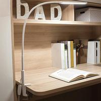 Table Clip Lamp Portable Long Arm Office USB Adjustable Eye Protection Desk Lamp Bedroom LED Light 5 Level Brightness And Color