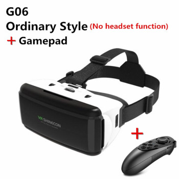 Original VR Virtual Reality 3D Glasses Box Stereo VR Google Cardboard Headset Helmet for IOS Android Smartphone,Bluetooth Rocker 1