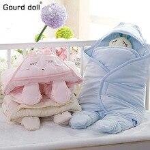 Осенне-зимний детский хлопковый спальный мешок конверт для новорожденных спальные принадлежности мультфильм спальный конверт для малышей пеленка