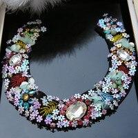 Grande Strass in rilievo patch per abbigliamento cucire paillettes applique per il vestito Fiore Handmade parches per borse