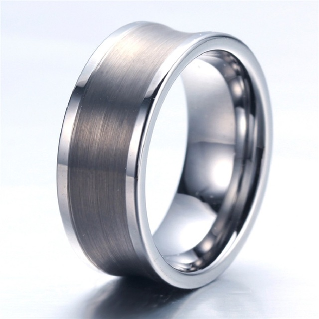 Tungsten Wedding Rings.Aliexpress Com Buy Soul Men Customize Size 12mm Mens Big Metal Tungsten Wedding Rings Silver Arc Classic Style Free Engraving From Reliable Wedding