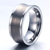 Soul Men Customize Size 12mm Mens Big Metal Tungsten Wedding Rings Silver Arc Classic Style Free Engraving