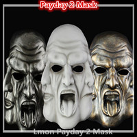 Free shipping High Quality Resin Payday 2 Masks Hockey Heat Game Props Cosplay Masquerade Ball Wargame Tactical Pay Day 2 Masks