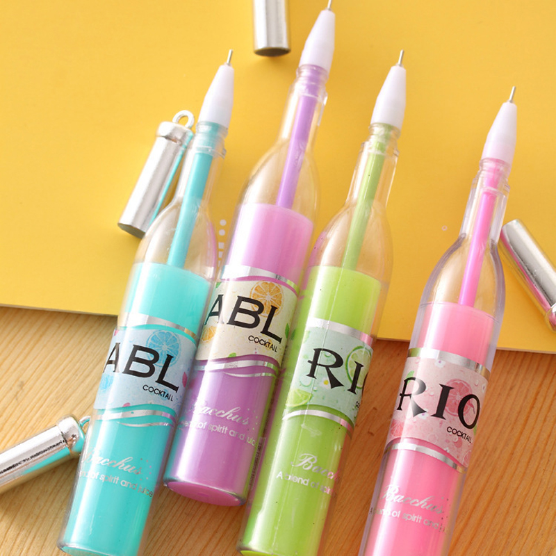 interesting office supplies. MEIKENG New Arrival Creative R I O Winebottle Gel Pen Interesting Office Supplies School Stationery 12Pcs/Lot 0.5 MM-in Pens From \u0026 T
