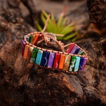 7 Color Regalite Tube Beads Chakra Bracelet