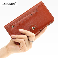 Genuine Leather Protective Full Cover Case For Samsung Galaxy A8 A8000 A8009 Luxury Mobile Wallet Phone