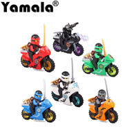 Yamala New Educational Ninjagoed Motorcycles Lloyd Zane Garmadon Model Figure Toy Kids Building Bricks Block Toys
