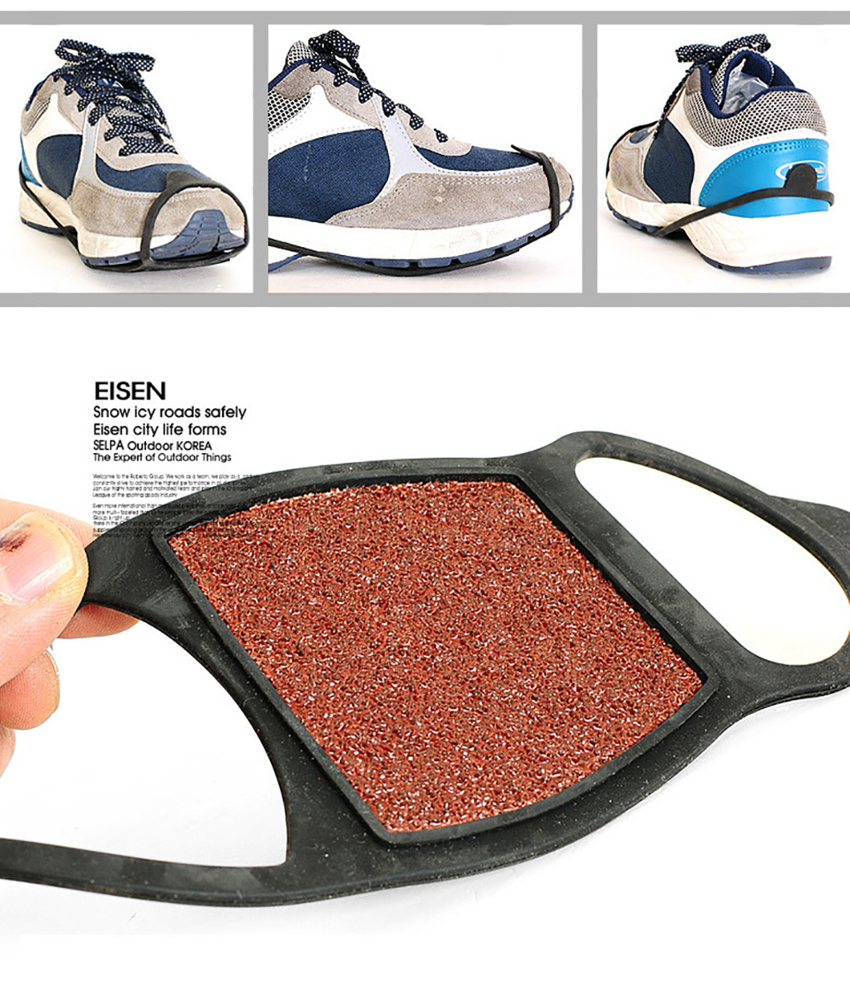 dd483bd231acc 3 Pairs High Quality Coarse Sand Anti slip Ice Gripper Shoes Spike Grips  Traction Cleat Crampons Climbing City Running-in Climbing Accessories from  Sports ...