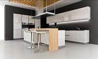 2017 High Gloss Лак кухонные шкафы современный дизайн 2Pac кухонной мебели