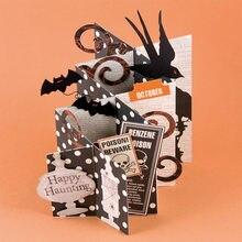 Halloween di Carta Del Metallo Fustelle 130 95mm Stencil Per Pieghevole  Fabbricazione Della Carta Decorativa di Goffratura Vesti. 179ef4c82966