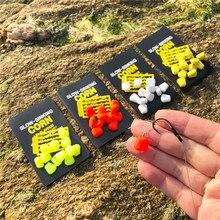 2 упаковки(24 шт.) медленное погружение кукурузы поддельные продукты 4 цвета IB вкус для ловли карпа с бесплатными стойками для волос гантели приманки