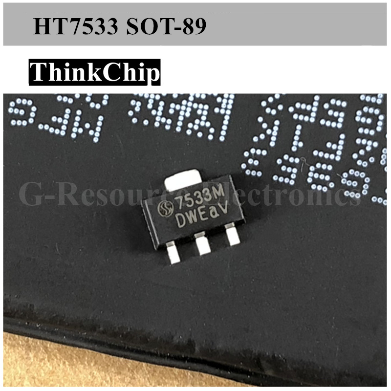 Free Shipping 20PCS HT7533-1 S0T-89 7533 SMD Fixed LDO Voltage Regulator,4V To 24V In, 100mV Dropout, 3.3V/100mA Out, SOT-89-3