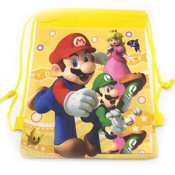 1 Uds., fiesta de feliz cumpleaños, Super Mario, Mochila amarilla, Baby Shower...