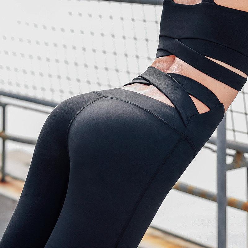 Women High Waist Yoga Pants Push Up Sport Leggins Women Running Trousers Gym Tights Workout Clothing Fitness Leggings Sportswear