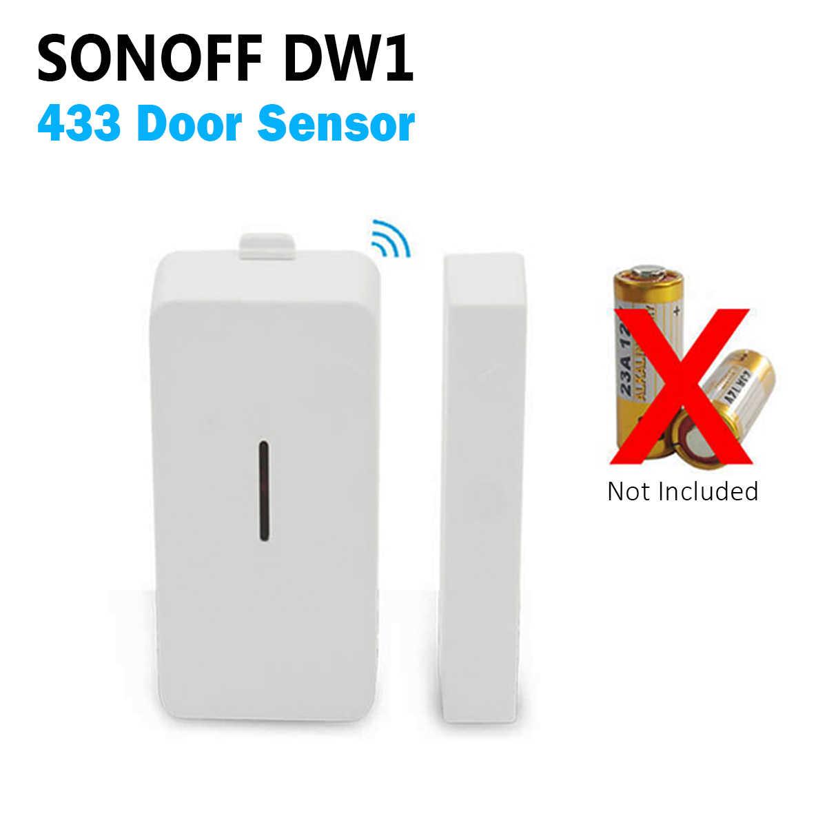 SONOFF DW1 433 Mhz interruptor del Sensor de la ventana de la puerta Módulos de Automatización inalámbricos compatibles con el puente RF para la seguridad de la alarma del hogar inteligente