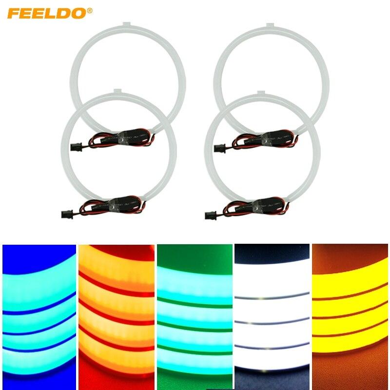 FEELDO 5 Color Optional Soft Cotton LED Light Angel Eyes Halo Ring Daytime Running Light DRL