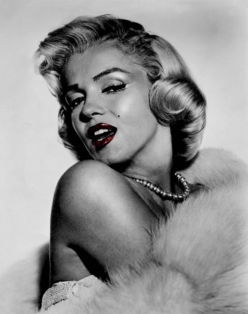 Printed sexy marilyn monroe black white oil painting on canvas wall art prints pictures for living