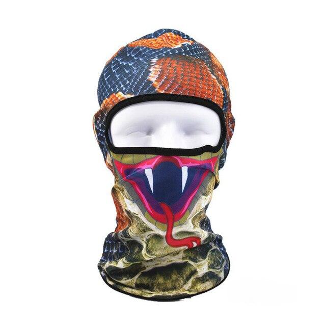 3D Hayvan Açık Kayak Maskeleri Bisiklet Bisiklet Kasketleri Kış Rüzgar Stopper Yüz Şapka 10.10