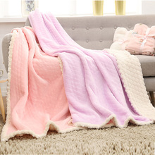 Summer Air Conditioning Blanket Flannel Cashmere Double Blanket Thick Blanket Office Single Nap стоимость