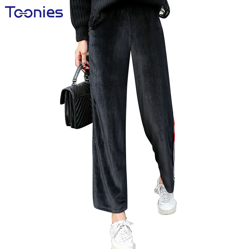 Large Size Women Casual Wide Leg Pants Winter Fashion ...