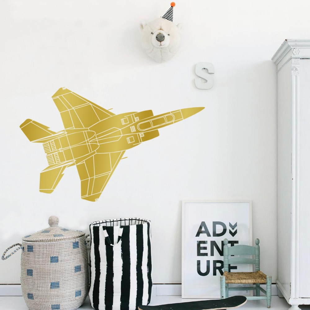 Vinyl Wall Art Aircraft Boy Room Home Decal Wall Sticker Creative ...