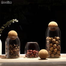 NOOLIM Creative Kitchen Storage Bottles for Bulk Products Jars with Li