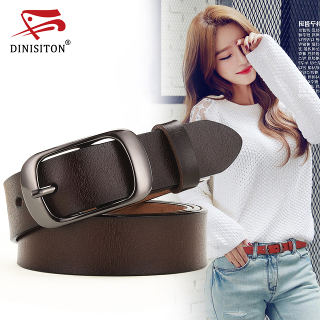 New Women Genuine Leather Belt For Female Strap Casual All-match Ladies Adjustable Belts Designer High Quality Brand