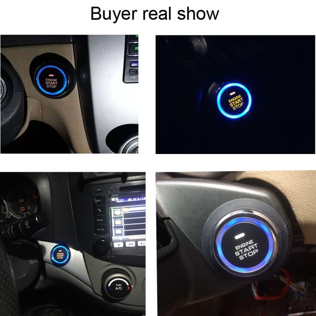 Auto Car Alarm Engine Push Button Starline Start Stop RFID Lock Ignition Switch Keyless Entry System Starter Anti-theft System