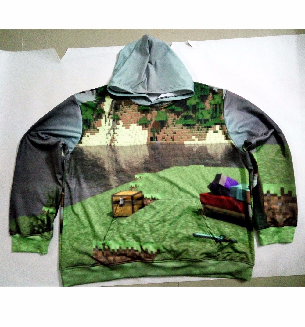 Real American size Minecraft Dreams 3D Sublimation Print OEM Hoody/Hoodie Custom made Clothing plus size
