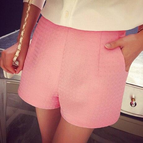 NIJIUDING 2017 Dropshipping Fashion Plaid   shorts   high-waisted   shorts   Korean Casual women Jeans   Shorts   crochet   shorts