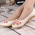 2016 New Brand flowers single shoes Women Flats comfortable soft bottom shoes women loafers leather shoes woman flats p76