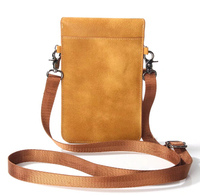 Lady Shoulder Belt Mobile Phone Leather Case Zipper Card Wallet Pouch For BlackBerry KEYone Mercury Homtom