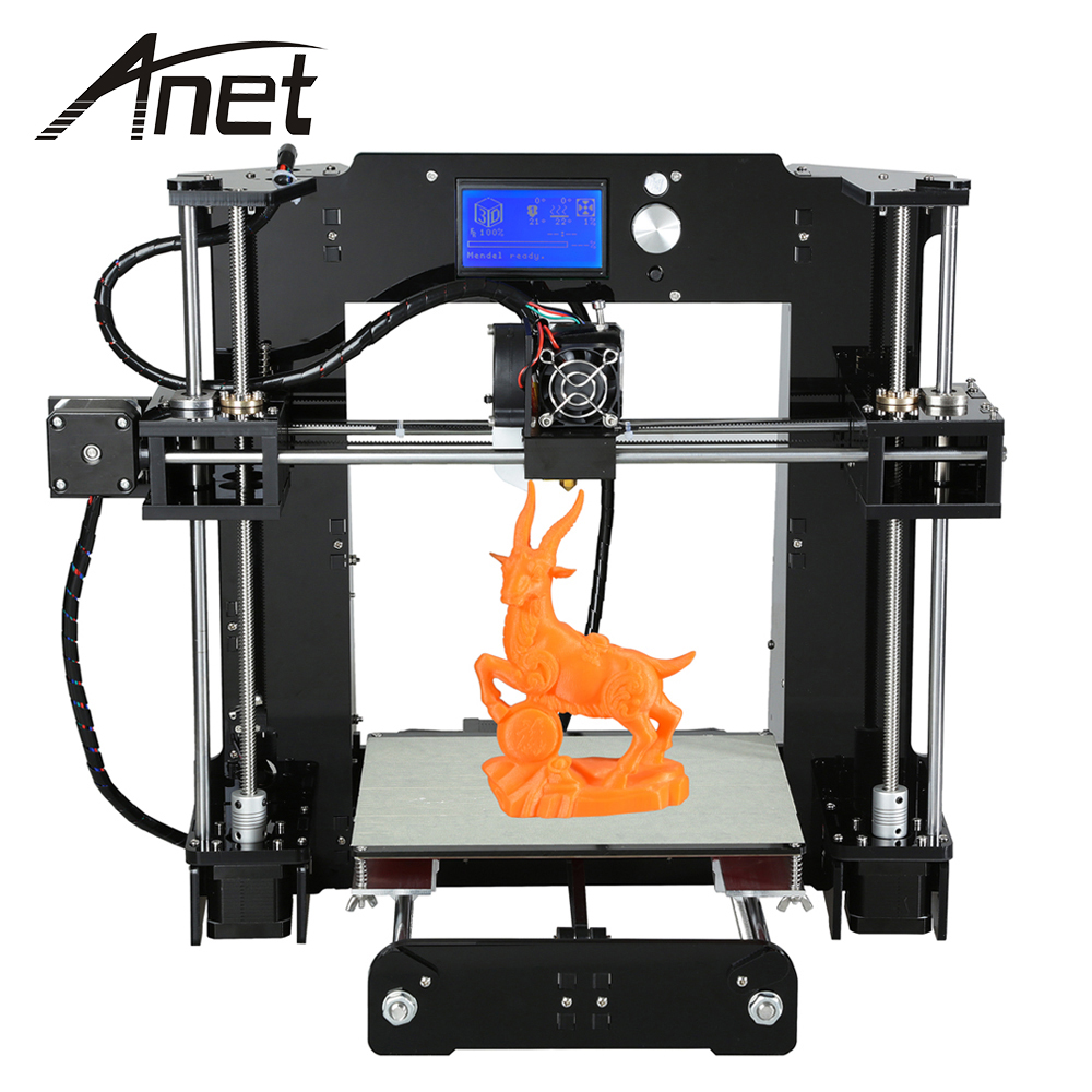 все цены на Anet A6 3D Printer Kit Desktop LCD Screen Display 3d Print 3 D Printer Diy With TF Card Off-Line Printing Shenzhen Cheap онлайн