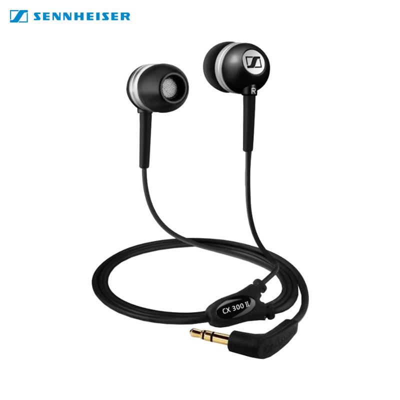 Earphones Sennhaiser CX 300-II awei a860bl sport bluetooth earphones with mic gold