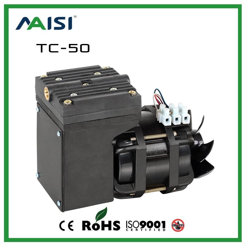 220 V AC 68 W Mini pompe à vide à membrane Eiectric pompe à Air pour vide d'aspiration 25L/min
