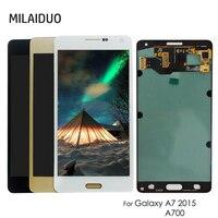 Оригинальный Super AMOLED Дисплей для SAMSUNG Galaxy A7 2015 A700 A7000 A700F A700FD OLED ЖК дисплей Сенсорный экран планшета Ассамблеи