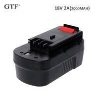 GTF 2000mAh 18V NI CD Rechargeable Battery for Black&Decker A18NH HPB18 HPB18 OPE A1718 Replacement Power Tool Battery Cells