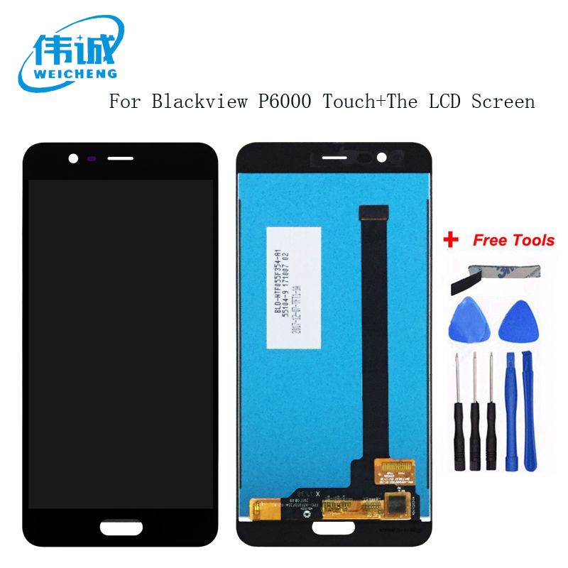 WEICHENG For Blackview P6000 LCD Display+Touch Screen Assembly Repair Parts 5.5 Inch For Blackview P6000 +Free ToolsWEICHENG For Blackview P6000 LCD Display+Touch Screen Assembly Repair Parts 5.5 Inch For Blackview P6000 +Free Tools