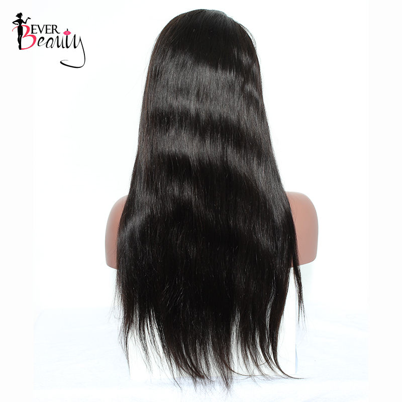 Deep Part 13x6 Lace Frontal Wig Silky Straight Brazilian Human Hair Remy 250% Density Pre Plucked Full Hair Ever Beauty Hair